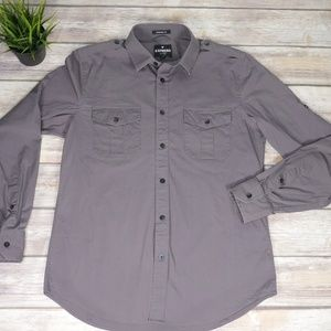 Express Modern Fit MK2 Grey Shirt Medium 15-15.5